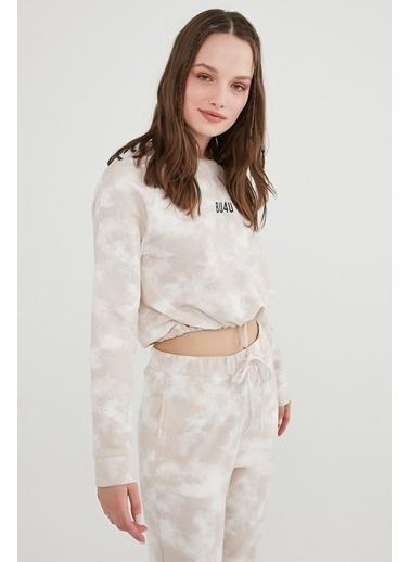 Penti Kadın Beyaz Bu4U Tie Dye Sweatshirt PNMF24Y521IY Beyaz